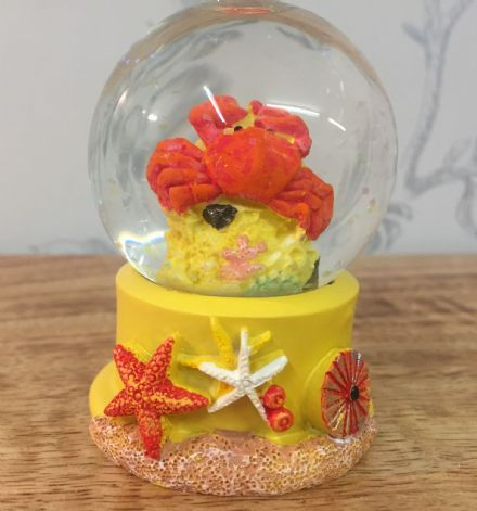 Sealife Snow Globe Glitter Ball ~ Crab
